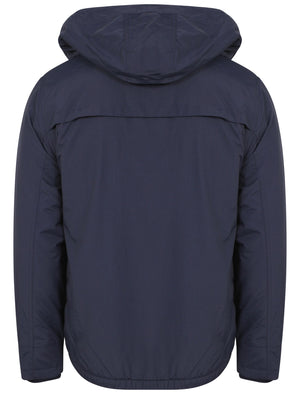 Maspeth Hoodie Layered Windbreaker Jacket in Midnight Blue - Tokyo Laundry