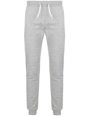 Mast Brush Back Fleece Cuffed Joggers In Light Grey Marl - South Shore