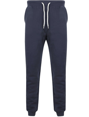 Mast Brush Back Fleece Cuffed Joggers In Midnight Blue - South Shore