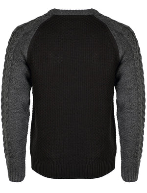 Tokyo Laundry Matty black contrast sleeve jumper
