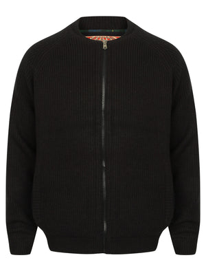 Maximo Quilted Lined Knitted Bomber Jacket in Black - Tokyo Laundry