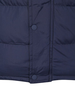 McCrooke Flannel Lined Quilted Gilet in Midnight Blue - Tokyo Laundry