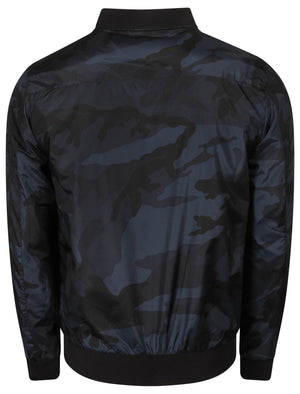 McLeod Bomber Jacket In Navy Camo – Dissident