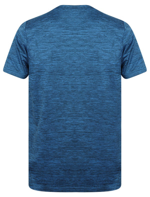 Memphis Reflective Motif T-Shirt In Seaport Blue - Tokyo Laundry Active