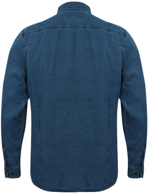 Mendez Long Sleeve Denim Shirt with Chest Pockets in Light Indigo – Tokyo Laundry