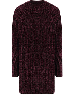 Meringue Chenille Cable Knit Cardigan with Pockets in Burgundy – Tokyo Laundry