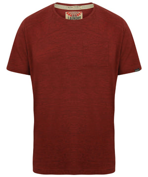 Mews Space Dye T-Shirt with Chest Pocket In Oxblood / True Navy – Tokyo Laundry