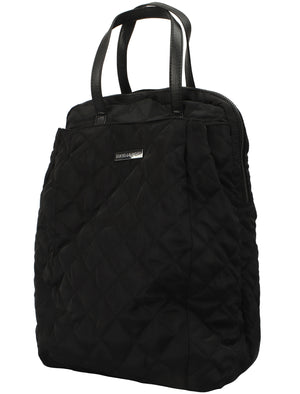 Mexico Quilted Backpack with Top Handles In Black – Tokyo Laundry