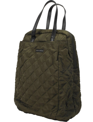 Mexico Quilted Backpack with Top Handles In Khaki – Tokyo Laundry