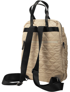 Mexico Quilted Backpack with Top Handles In Stone – Tokyo Laundry