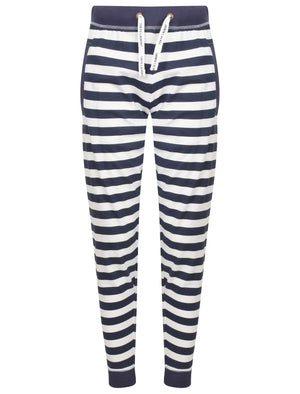 Minnie Striped Cotton Jersey 2pcs Lounge Set In Optic White / Navy – Tokyo Laundry