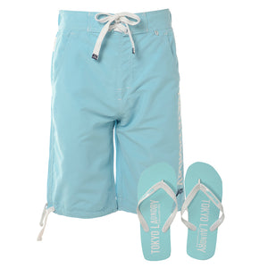 Miramar mesh lined swim shorts in pool blue - Tokyo Laundry