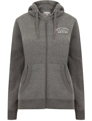 Montauk Zip Through Hoodie In Charcoal Marl – Tokyo Laundry Active
