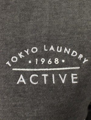 Montauk Zip Through Hoodie In Charcoal Marl - Tokyo Laundry Active