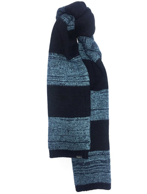 Men's Mormont Colour Block Knitted Scarf in Navy – Tokyo Laundry