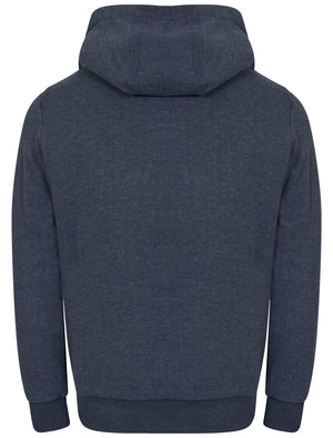 Mount Wellwood Borg Lined Hoodie in Mood Indigo Marl - Tokyo Laundry