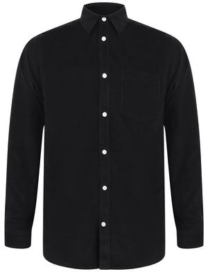 Muretto Corduroy Cotton Long Sleeve Shirt In Jet Black – Tokyo Laundry