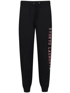 Mylo Loop Back Fleece Cuffed Joggers In Black – Tokyo Laundry
