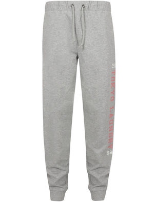 Mylo Loop Back Fleece Cuffed Joggers In Light Grey Marl – Tokyo Laundry