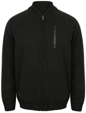 Naple Pines Jersey Bomber Jacket in Black - Tokyo Laundry