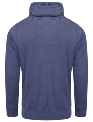 Nassau Bay Cowl Neck Pullover Hoodie in Washington Blue - Tokyo Laundry