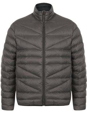Naylor Funnel Neck Quilted Jacket in Asphalt Grey - Tokyo Laundry