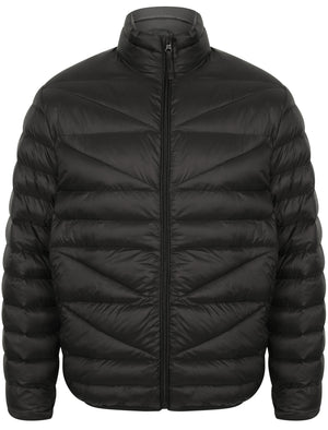Naylor Funnel Neck Quilted Jacket in Black - Tokyo Laundry