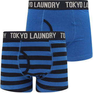 Neville (2 Pack) Striped Boxer Shorts Set In Nautical Blue / Sky Captain Navy – Tokyo Laundry