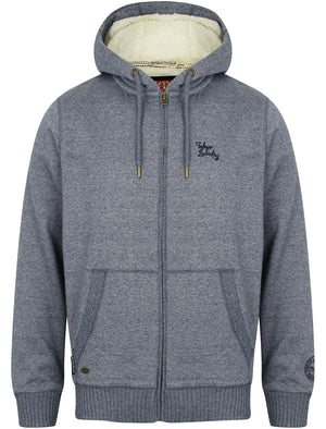 Newtok Falls Zip Through Borg Lined Hoodie in Medieval Blue / Ivory – Tokyo Laundry