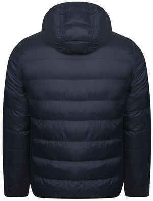 Nickleby Quilted Puffer Jacket with Hood in Midnight Blue - Tokyo Laundry