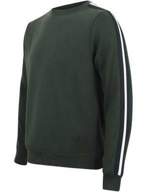 Nocona Point Sweatshirt with Tape Detail Sleeves in Dark Green – Tokyo Laundry