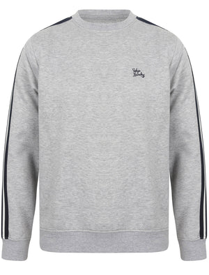 Nocona Point Sweatshirt with Tape Detail Sleeves in Light Grey Marl – Tokyo Laundry