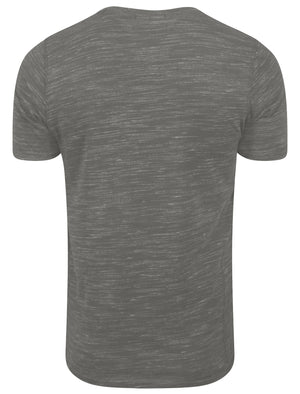 Nome Lake2 Injection Marl T-Shirt in Antique Gunmetal - Tokyo Laundry