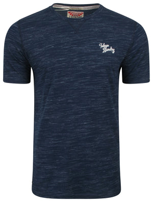 Nome Lake2 Injection Marl T-Shirt in Navy - Tokyo Laundry