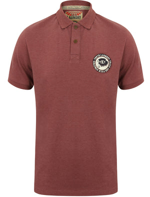 Oak Harbour Polo Shirt in Bordeaux Marl - Tokyo Laundry