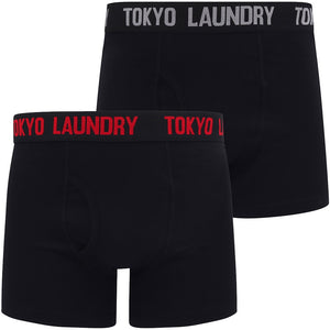 Oceana (2 Pack) Boxer Shorts Set in Barados Cherry / Light Grey Marl – Tokyo Laundry