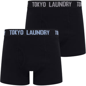 Oceana (2 Pack) Boxer Shorts Set in Placid Blue / Light Grey Marl – Tokyo Laundry