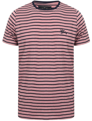 Pacora Grindle Stripe Cotton T-Shirt In Faded Peach – Tokyo Laundry