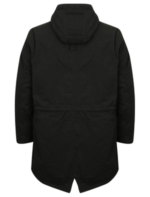 Parton Borg Lined Hooded Parka Jacket in Black - Tokyo Laundry
