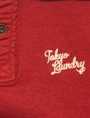 Penn State Polo Shirt in Tokyo Red - Tokyo Laundry