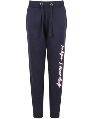 Penny Brushback Fleece Cuffed Joggers In Eclipse Blue – Tokyo Laundry