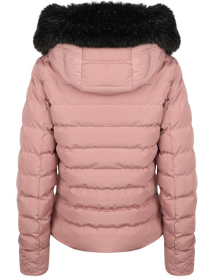 Pepper Quilted Hooded Jacket With Detachable Fur Trim In New Pink - Tokyo Laundry