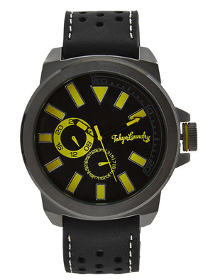 Peyton Analogue Watch in Black / Lime - Tokyo Laundry