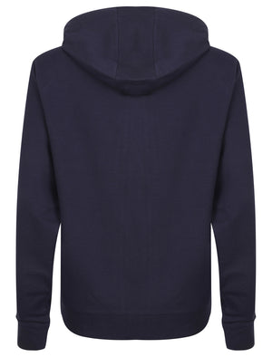 Pia Loopback Fleece Zip Through Hoodie In Eclipse Blue – Tokyo Laundry