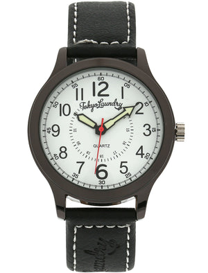 Pierce Analogue Watch In Black / White - Tokyo Laundry