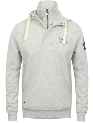 Mcclain Pullover Hoodie with Funnel Neck in Ice Grey Marl – Tokyo Laundry