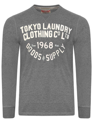 Point Hendrick Felt Applique Long Sleeve Top in Mid Grey Marl – Tokyo Laundry