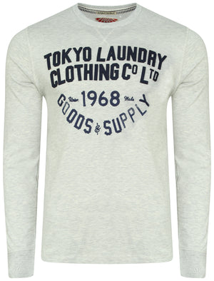 Felt Applique Long Sleeve Top in Oatgrey Marl – Tokyo Laundry