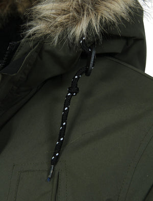 Ponsonby Parka Jacket With Fur Trim Hood in Amazon Khaki - Tokyo Laundry