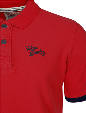 Port Orange Polo Shirt in Tokyo Red - Tokyo Laundry